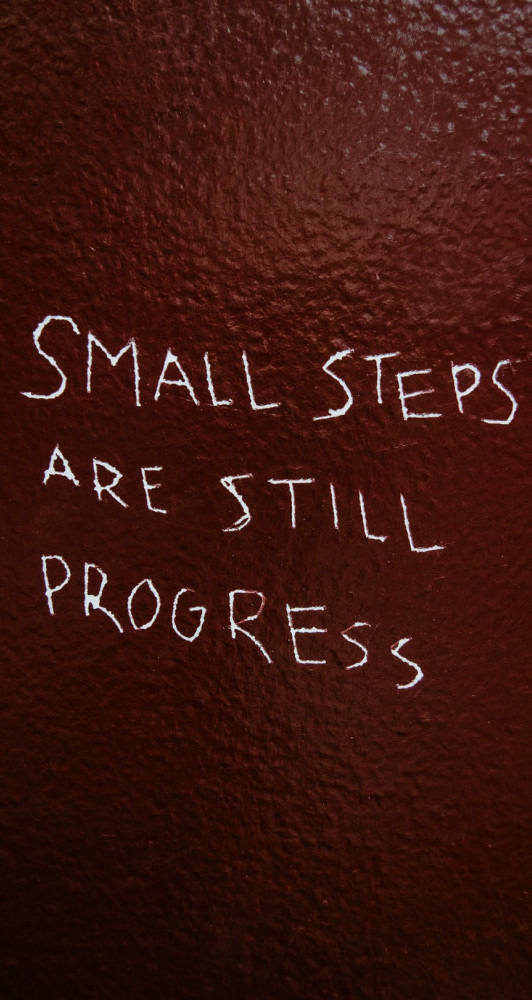 small steps are progress